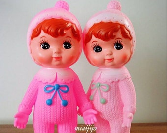 Couple of Woodland Vintage Rubber Charmy Doll