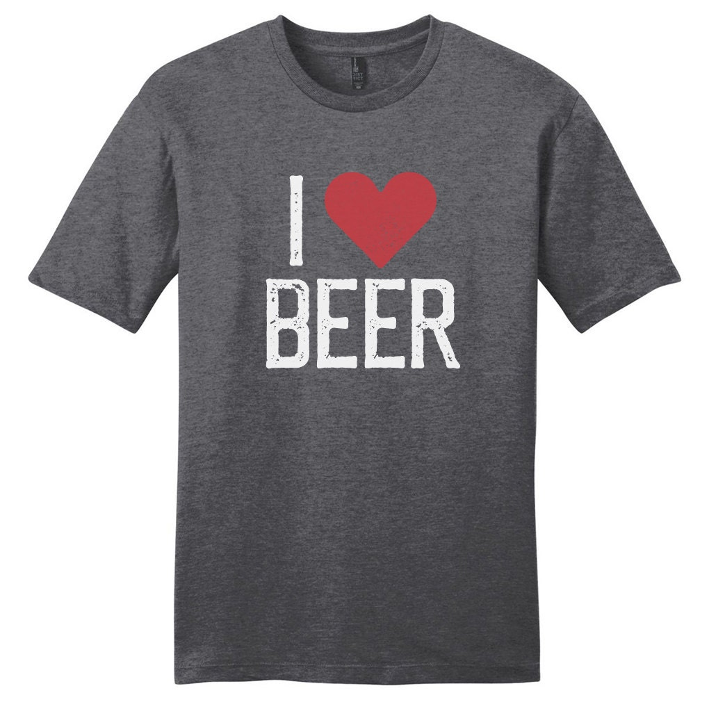 I heart beer i love beer funny drinking quote t shirt for I love beer t shirt
