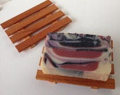 Rustic Aromatic Cedar soap holder deck dish reclaimed wood artisan made soap saver gift set handmade