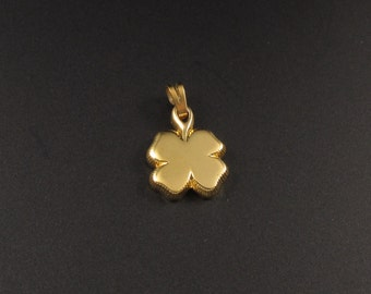 Four Leaf Clover Charm, Monet Clover Charm, Clover Charm, Monet Charm, Gold Clover Charm, St. Patrick's Charm, Irish Charm, Good Luck Charm