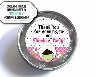 """1"""", 1.5"""" or 2""""  Stickers, Labels for Favors, Spa Beauty Party, Bridal Shower, Bachelorette Party, Birthday, Girls Night Out, Hot Pink, Black"""