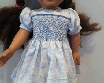 "Ready to Smock Batiste Yoke Style Dress for 18"" Doll"