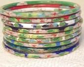 Set of 8 Vintage Cloisonne Bracelets  Vintage Bracelet Chinese Jewelry Chinese Bracelet Cloisonne Jewelry Bangle Lot Jewelry Lot