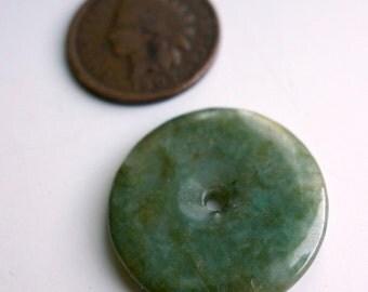 Vintage Jade Disc Bead