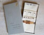 Vintage Men's Handkerchiefs Handloom Embroidery Cotton Pack of 3