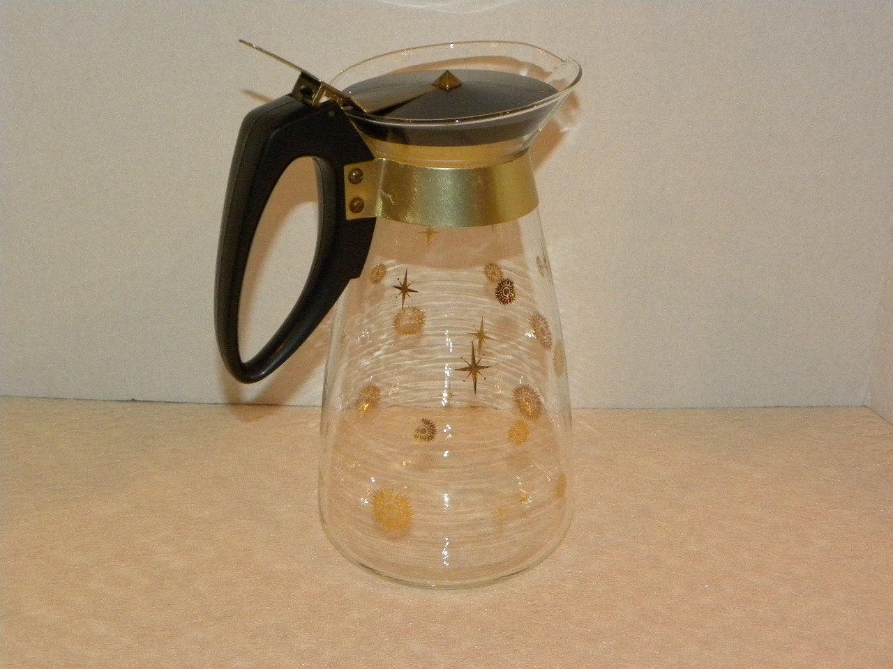 Vintage Pyrex Teapot Coffee Pot 10 Cup Clear Glass With