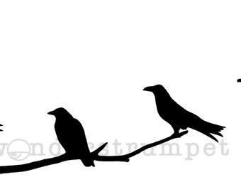 Attempted Murder:  Crows on a Branch Stencil