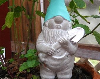 Concrete Gnome Statue / Fairy Garden Decor