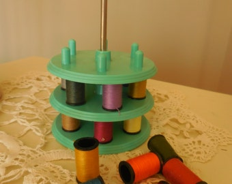 Vintage Spool Thread Tower