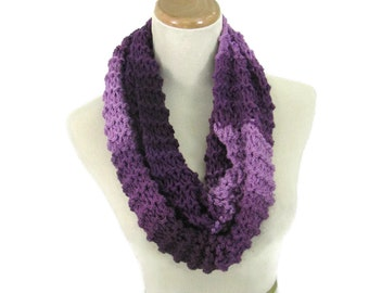 Plum Infinity Scarf, Chunky Loop Scarf, Neck Warmer, Knit Scarf, Circle Knit Scarf, Cowl Scarf, Gift For Her, Winter Accessory, Women Scarf