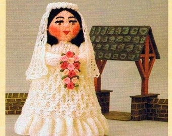 KNITTING PATTERN - Bride Doll/Toy/Gift Children's Pattern
