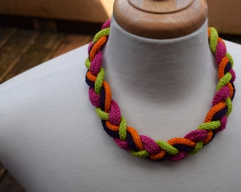 Citrus Punch Braided Rope Necklace