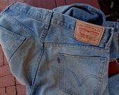 Levi's 505 Jeans Vintage 90s Levis  Zip Fly Regular Fit Denim Jeans Waist W 31L34