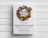 Print Your Own Harvest Bazaar Invitation