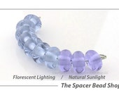 Neo-Lavender Blue Shift Lampwork Spacer Beads Glass Handmade - The Spacer Bead Shop