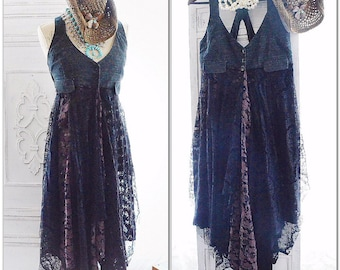Boho jumper, Bohemian maxi dress, Gypsy soul day tripper fall dress, Boho junk gypsy romantic Autumn dress, Shabby dress True rebel clothing
