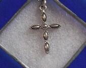 StainedGlass Cross, Framed Cross, Crucifix, Blue
