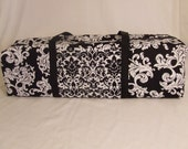 Carrying Case for the Silhouette Cameo or Cricut Expression / Silhouette Cameo Carrying Bag / Cricut Tote / Black and White Damask Print