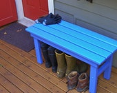 Country Style Outdoor Entryway Bench - Mud Bench - Garden Bench 15 Colors for All Seasons - Made Strong and Durable with Cedar & Pine