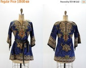 SALE 35% off Vintage Top DASHIKI Tunic Bohemian Hippie 1970s