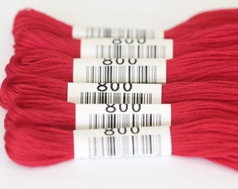 Cosmo Embroidery Floss #800 Aurora Red
