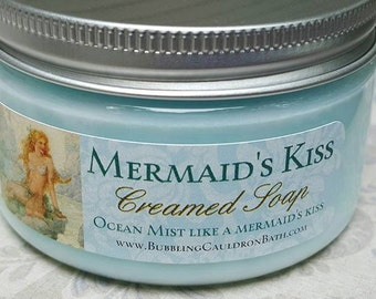 Mermaid's Kiss Creamed Soap - Bath Whip - Whipped Soap - Mermaid Soap - Cream Soap - Daylily - Seaspray - Watery Florals