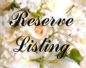 Reserved Listing for Erin Donnelly