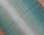 Cotton Rug  2 x 4 / Aqua Green Ombre Machine Washable Rug