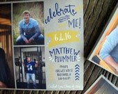 Graduation Announcements - Tear off hand outs on Notepads -- 50 per pad -- unique and great for friends, classmates and coworkers