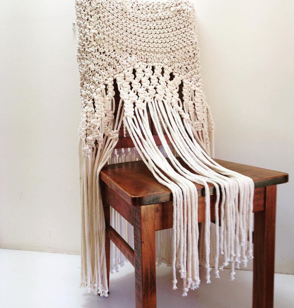 Vintage Wedding Accessories Home Decor Macrame Rope Chair