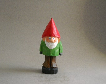 Garden gnome with green Jacket   #4