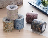 mt 2016 New Japanese Washi Masking Tape - mt x William Morris Series 50mm Wide at your choice from 5 different designs for packaging, deco