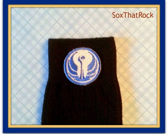 Sar Wars Jedi Order insired custom made socks. You pick sock type, sock color, and size. For men, women, boys, and girls. Baby - Adult