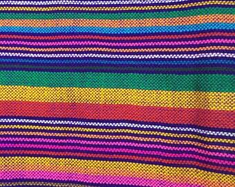 Serape Sarape  Tone Tribal Mexican Fabric Ethnic Yard Colorful