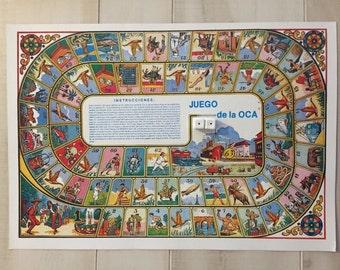 Mexican El Juego de La Oca Game Loteria