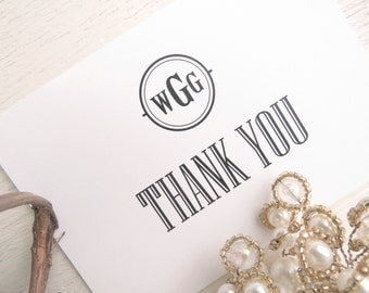 Printed Wedding Reception Thank You Card  | Wedding Thank You Card | Thank You Card | Thank You - Style TY82 STATELY COLLECTION