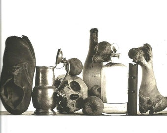 vintage 1980's apothecary lithograph irving penn art print photograph black white photo image grey gray wall hanging home decor picture