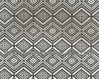 vintage 1970's optic illusion pattern art print book plate black & white pop art design retro home decor mod geometric picture wall 53 54