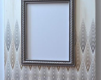 16x20 Tribeca Metallic Distressed Modern Frame