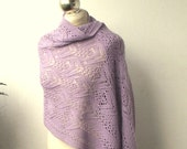 Hand knitted alpaca stole ,hand knit shawl