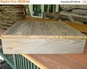 ON SALE RECLAIMED wood cake box stand plate barnwood primitive weddings western supplies decor cupcake stand