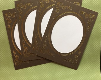 """Gilded Victorian Style Matte 5"""" x 7"""" - Qty4"""