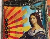MESSY Art JOURNAL Mixed Media Art Journal, Blank Journal, Dare To DREAM