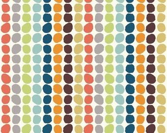 Organic Cotton Fabric-Birch- DOUBLE GAUZE- Pebble Stripe- Great Shipping Rates