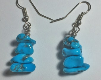 Turquoise Chunk Earrings