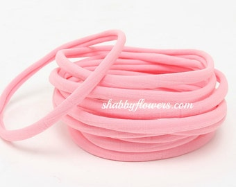 Nylon Headbands- Soft Stretch Head wrap- Wholesale Nylon Headbands - Soft Headband Nylon-Baby Headband-Baby Head wrap-Baby Girl- Light pink