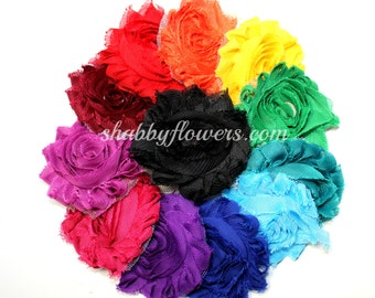 Shabby Flower Multipack in Jewel Tone (12 Colors / 24 Flowers)