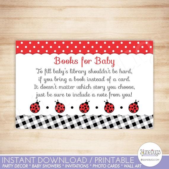 Ladybug baby shower book request cards ladybug baby girl shower il570xn filmwisefo