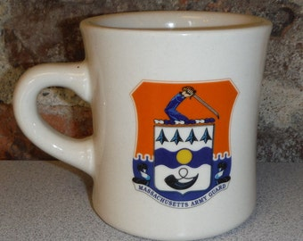 MASSACHUSETTS ARMY GUARD Heavy Mug Career Collectibles Military Coffee Cup