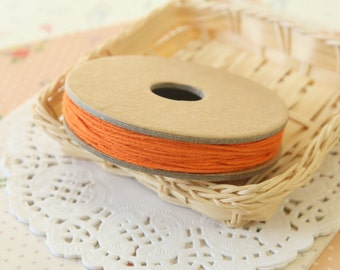 Solid ORANGE Divine Twine 20yd Reel 4-ply cotton bakers twine string